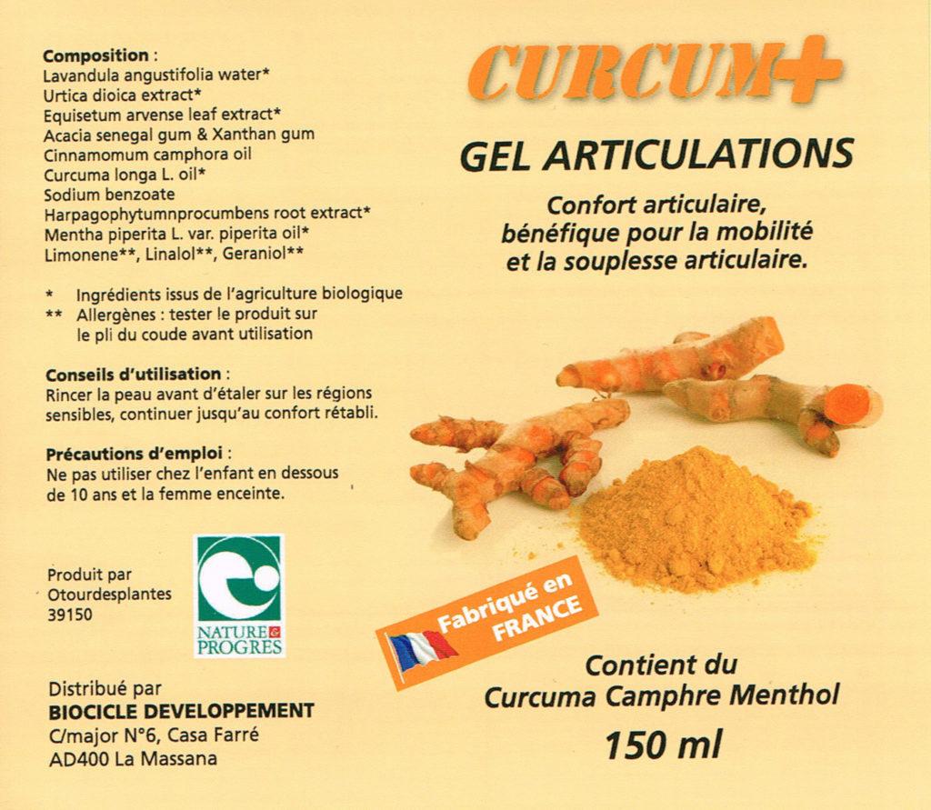 composition gel curcum plus